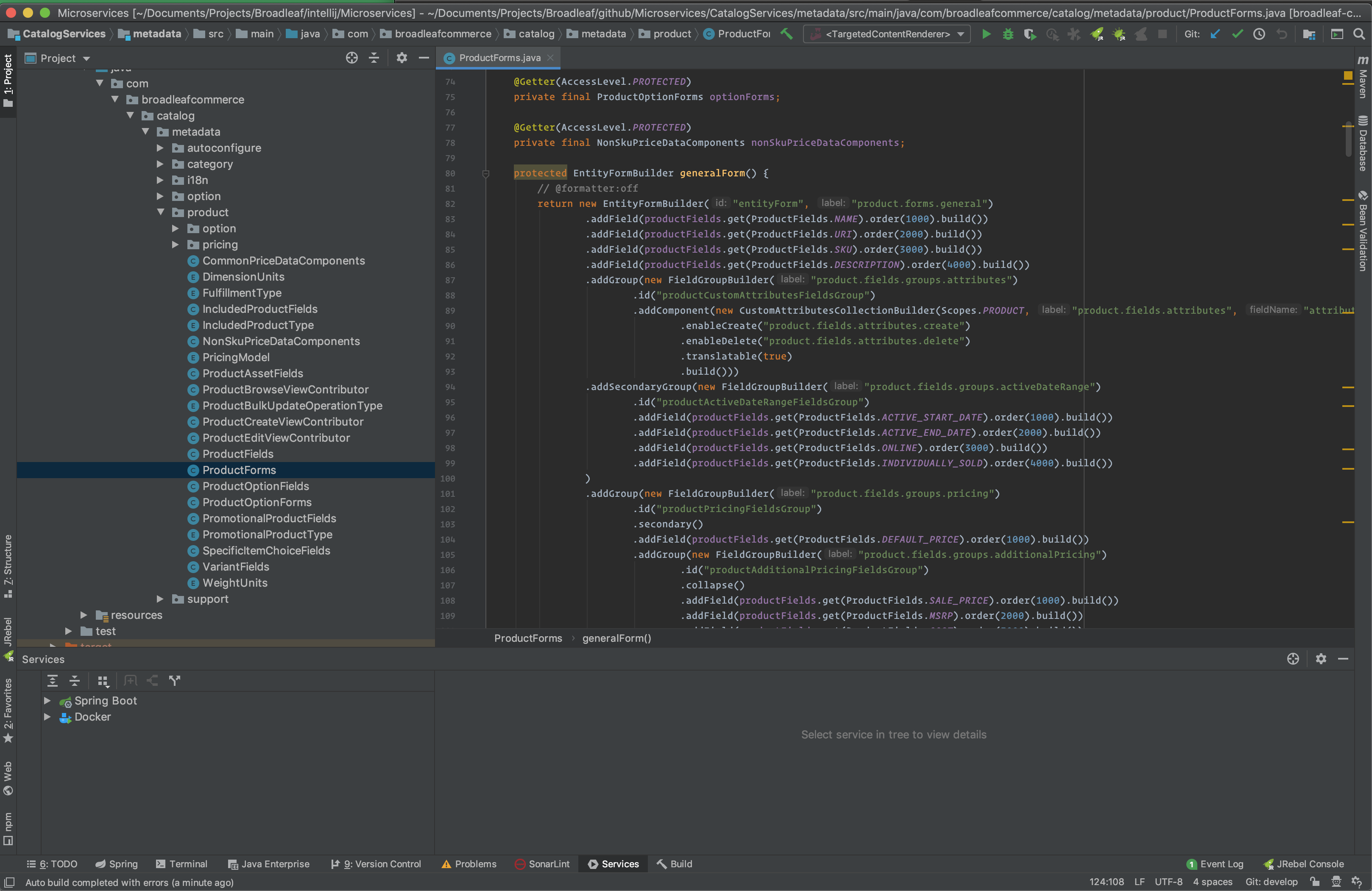Microservices IntelliJ IDE