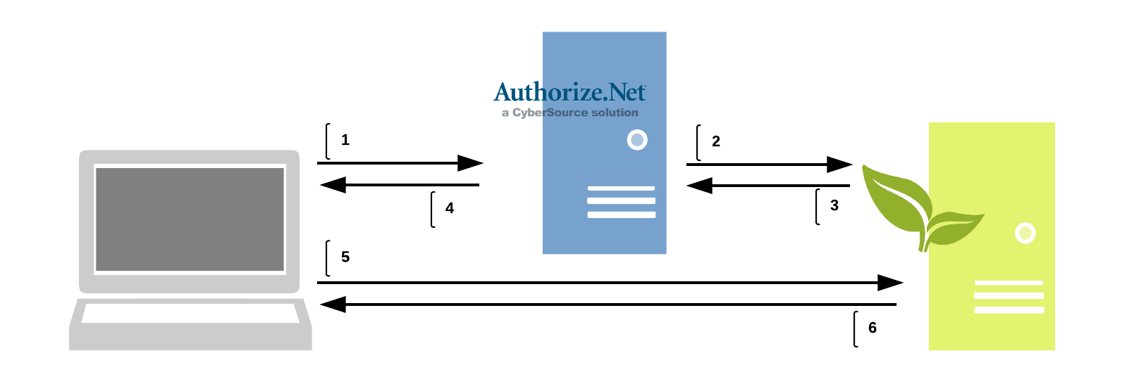 Authorize.net DPM Diagram