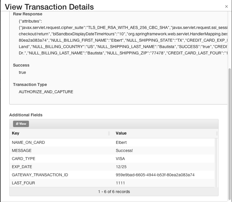 Payment Transactions in the Admin